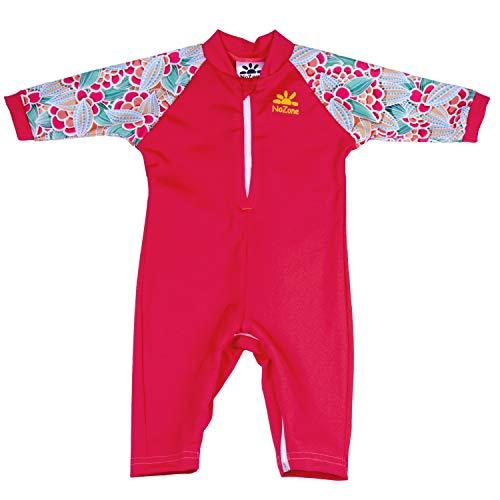 Nozone Fiji Sun Protective Baby Girl Swimsuit in Cherry/Bella, 24-36 Months ()