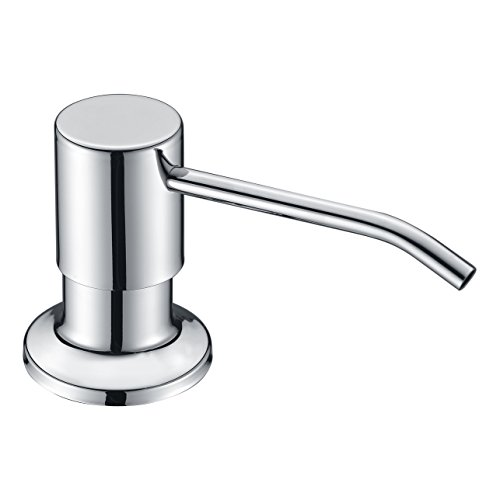 Chome Sink Soap Dispenser WENKEN Best Stainless Steel Built In Pump Kitchen Soap  Dispenser Large Capacity