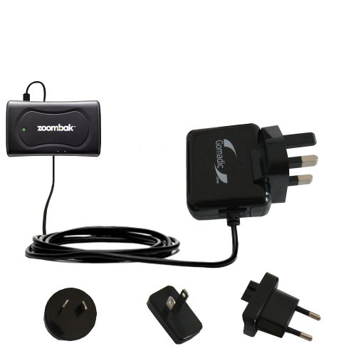 International AC Home Wall Charger suitable for the Zoombak Advanced GPS Universal Locator - 10W Charge supports wall outlets and voltages worldwide - Uses Gomadic Brand TipExchange ()