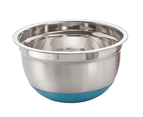 - ExcelSteel 297 3-Quart Stainless Steel Non Skid Base Mixing Bowl