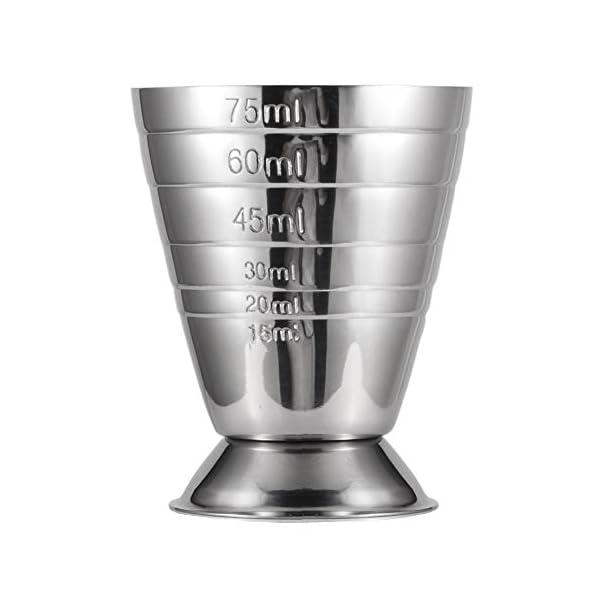 Homestia Argento Misurino Doppia Faccia Cocktail in Acciaio INOX Capacità 2.5oz 6 spesavip