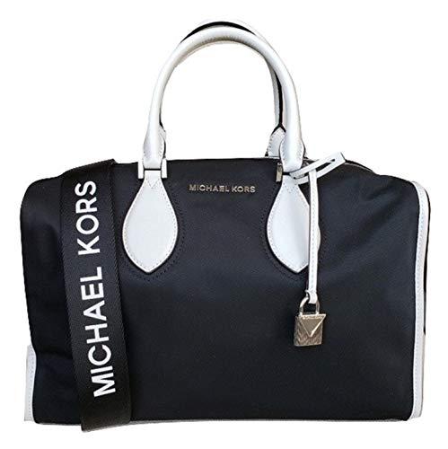 Michael Kor Unisex Connie Nylon Lg Duffle Bag Black