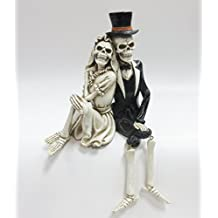 Day of the Dead Skeleton Wedding Couple Shelf Sitter Figurine 8 inch
