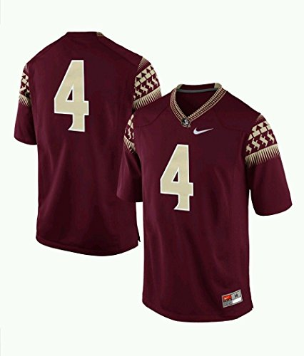 Nike NCAA Men's Florida State Seminoles #4 Game Jersey Garnet Large State Nike Football Jersey