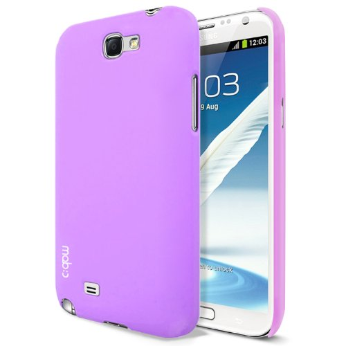 MobC Galaxy Note 2 / II / N7100 Case ColorPop Pastel - Rubberized Matte Slim Fit - Screen Protector / Home Button Included - Retail Packaging - Lavender Purple
