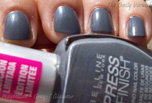 Maybelline Express Finish Polish - Maybelline Express Finish Nail Polish Gray-t Glamo