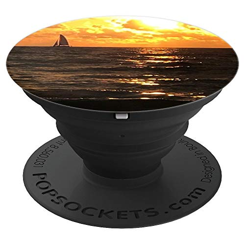 Beautiful Sailboat and Sunset Phone accessory - PopSockets Grip and Stand for Phones and Tablets