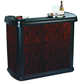 Carlisle 7550 Maximizer Portable Bar, Sleek Contemporary High Top Premium B...