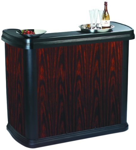 "Carlisle 7550 Maximizer Portable Bar, Sleek Contemporary High Top Premium Beer/Wine and Beverage Table, 56"" Serving Area"