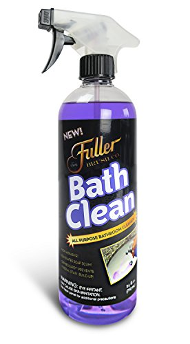 Fuller Brush Bath Clean - Dissolves Tough Soap Scum & Hard Water Stains - Contains Grimegaurd - 24 oz (Best Product To Clean Plastic Bathtub)