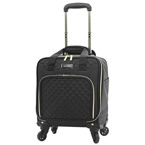 "(Kensie 16"" rolling underseater, Black with Gold)"