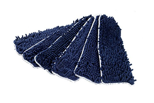 LTWHOME 18 Inch Washable Chenille Microfiber Coral Flat Mop Pad Refills(Pack of 6)