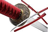 1045/1060 high Carbon Cold Steel Heat Tempered Full Handmade Japanese Samurai Katana Hand Forged Japanese Real