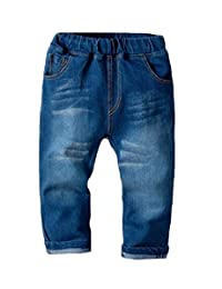 pipigo Boys Denim Stretchy Jeans Childrens Baby Pant