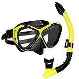 ANGGO Snorkel Set Adults Recreation Anti-Fog Film Diving Mask Snorkel Set