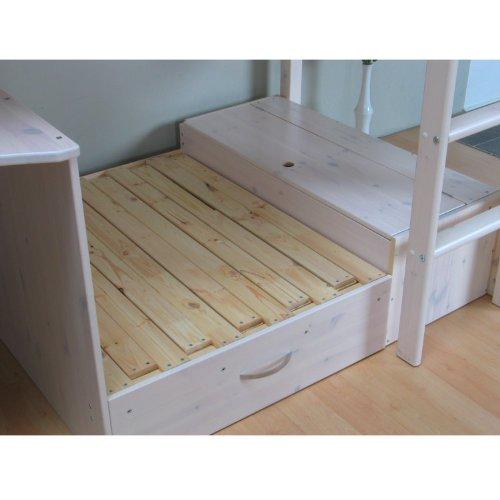 Thuka Hochbett 90x200 Kiefer massiv Bett Kinderbett Gästebett ...