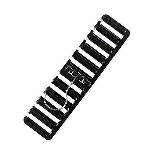 WOVELOT 10 Grid Lagerregal Krawatte Guertel Schal Rack Organizer Schrank Kleiderschrank Space Saver Tops BH Rotierende Kleiderbuegel Halter mit Haken schwarz
