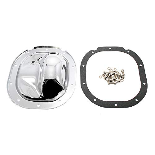 Assault Racing Products A9465KIT Ford 10 Bolt 8.8in Ring Gear Chrome Steel Rear Differential Cover Kit (Differential 8.8 Cover Ford)