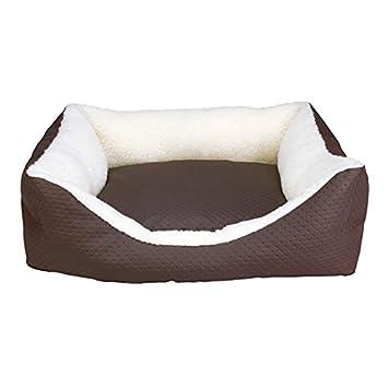 Arquivet 8435117883994 - Cama Cuadrada Piel marrón 70 x 60 x 20 cm: Amazon.es: Productos para mascotas