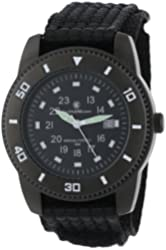 Smith & Wesson Men's SWW-5982 Commando Black Nylon Strap Watch