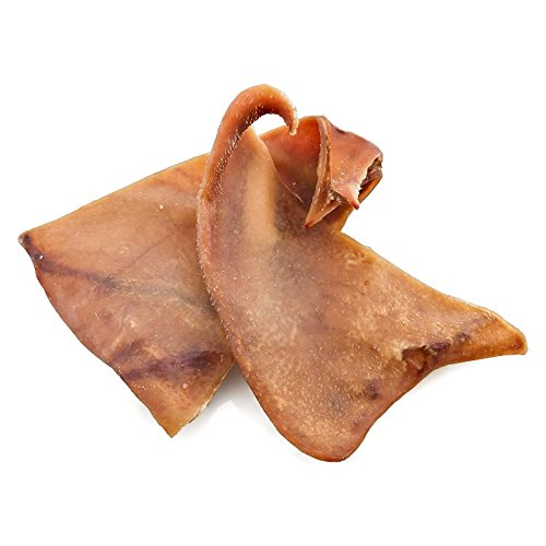 100% Natural Bulk Pig Ear Dog Treats (100 Count Value Pack) Assorted Sizes Best for Small to Medium Dogs - Free of Any Additives, Preservatives or Hormones - Hand-Inspected and USDA/Approved