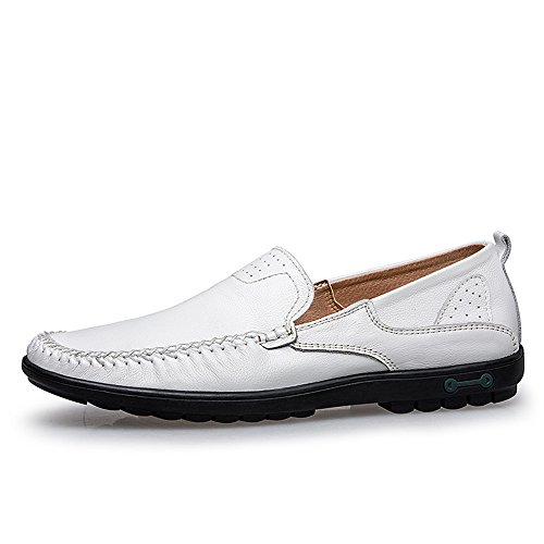 amp; per Dimensione EU Wider uomo Super Slip 38 casual Scarpe Light Leggero Loafer Soft Wave Bianca Nero Color Ofgcfbvxd Sole On Fitting driving Mocassini z5qqBR