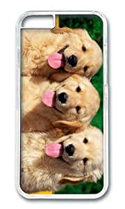 MOKSHOP Personalized Golden Retriever Puppies Hard Case Protective Shell Cell Phone Cover For Apple Iphone 6 (4.7 Inch) - PC Transparent