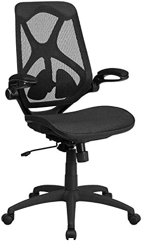 Flash Furniture High Back Transparent Black Mesh Executive Ergonomic Office Chair