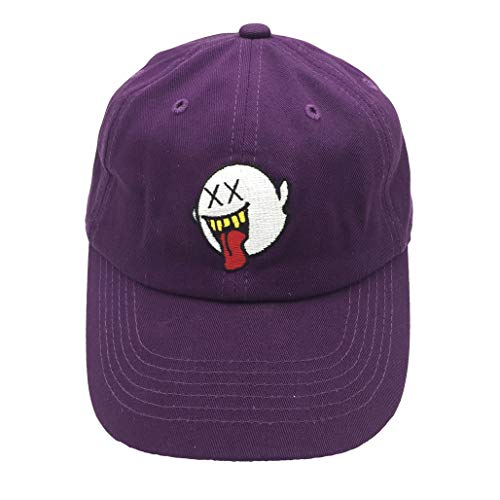 zhidan wei Distressed Boo Dad Hat Embroidered Baseball Cap Cotton Hat Ponytail for Men and Women Purple