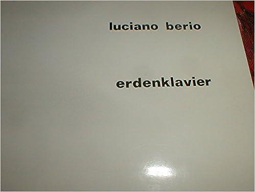 Luciano Berio Erdenklavier Universal Edition Score: Luciano