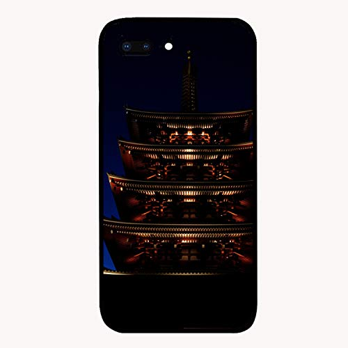 Pagoda Roof Night Lighting Cellphone Case for iPhone 7/8 Plus