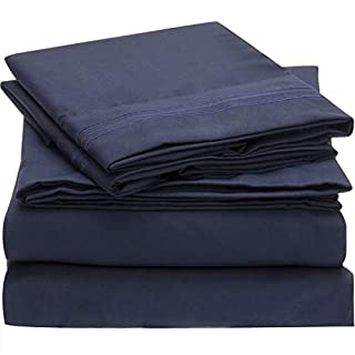 Mellanni Bed Sheet Set - Brushed Microfiber 1800 Bedding - Wrinkle, Fade, Stain Resistant - Hypoallergenic - 4 Piece (Queen, Royal Blue) (B00NLNDO6K) | Amazon price tracker / tracking, Amazon price history charts, Amazon price watches, Amazon price drop alerts