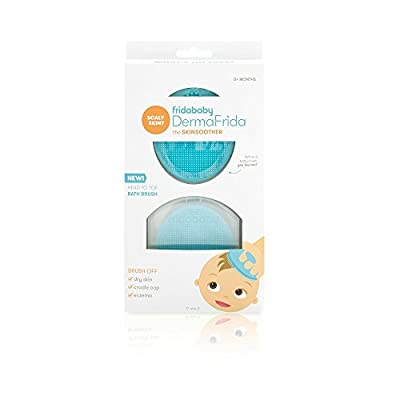 Baby Bath Silicone Brush by Fridababy   DermaFrida The SkinSoother Baby Essential for Dry Skin, Cradle Cap and Eczema (2 Pack)