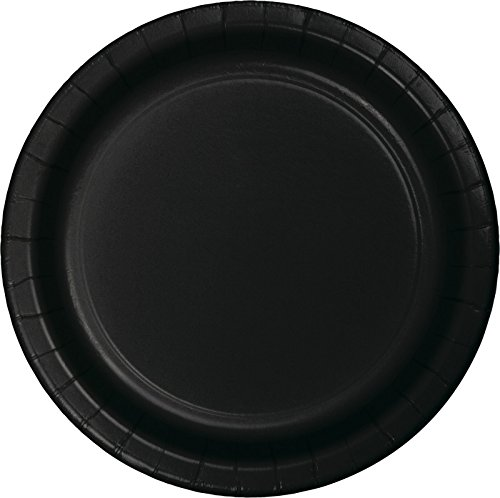 Creative Converting 75-Count Value Pack Paper Dinner Plates, Black Velvet - 483260B -