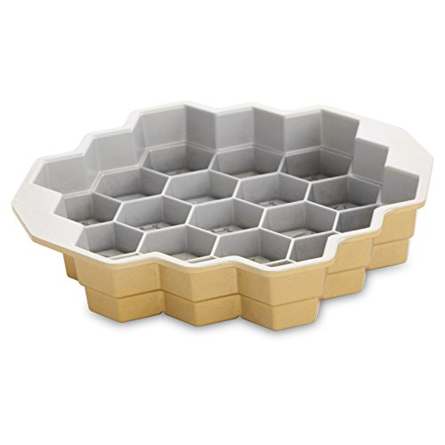 Nordic Ware 85477 Honeycomb Pull-Apart Pan, One, Gold