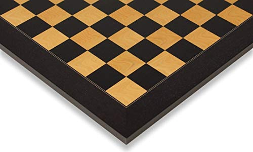 Black & Ash Burl High Gloss Deluxe Chess Board 1.5