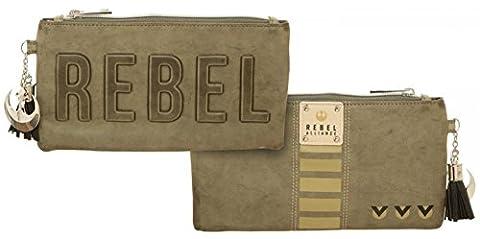 Star Wars Rogue One Rebel Debossed Clutch Zipper Pouch 9 x 5in (Star Wars Rebel Bag)