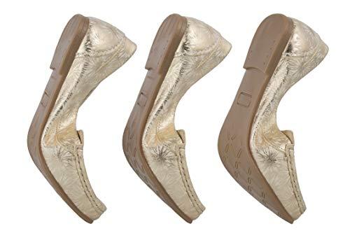 Mocassini Confortevoli Mocassino Pelle Zerimar Elegante In Oro Scarpe Confort Donna 6ZdX8wq