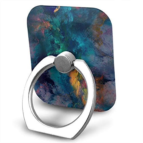 Square Finger Ring Stand 360°Rotation Phone Holder Grip Art Smoke Watercolor Kickstand for Smartphones and Ipad