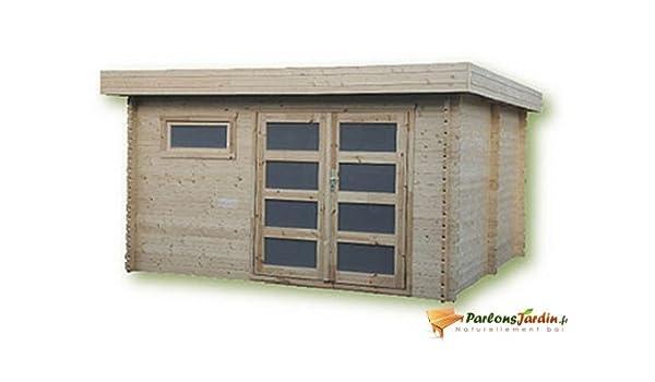 Cobertizo de madera para jardín, con techo plano Ste Maxime 14,9 ...