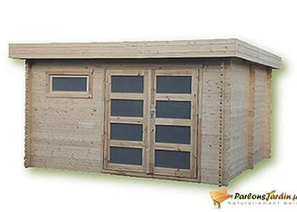 Cobertizo de madera para jardín, con techo plano Ste Maxime 14,9 m²
