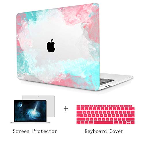 TwoL Print Hard Shell Case and Keyboard Cover Screen Protector for New MacBook Air 13 inch 2018 Release Model:A1932 with Retina Display Colorful ()