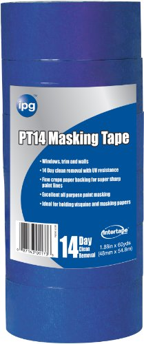 Intertape Polymer Group PT14.37 Premium Masking Tape with Block It, 1.41-Inch x 60-Yard, Blue