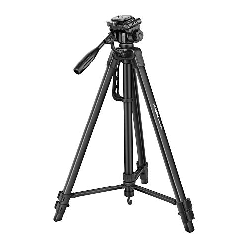 DIGITEK® DTR 550 LW (67 Inch) Tripod For DSLR, Camera |Operating Height: 5.57 Feet | Maximum Load Capacity up to 4.5kg | Portable Lightweight Aluminum Tripod with 360 Degree Ball Head | Carry Bag Included (Black) (DTR 550LW)
