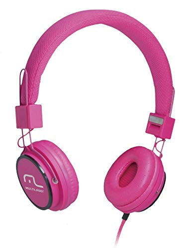Fone de Ouvido Multilaser Headphone Som Hi-Fi Power Microfone Handsfree Rosa - PH088