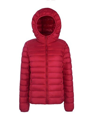 Green Sleeve XL Long Red YRF Down Active Purple Yellow Black Women's Coat White GREEN Hooded Solid wRqqZXgO