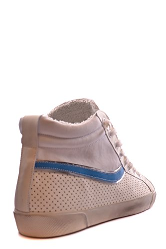 Leather Crown Hombre MCBI185024O Blanco Tela Zapatillas Altas