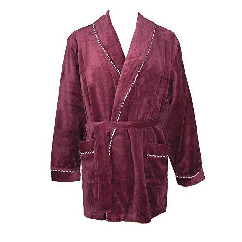 Majestic International Men's Satin Lined Smoking Jacket, Small/Medium, Merlot ()