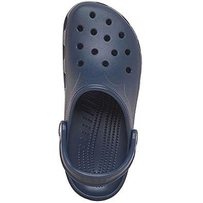 81a252b33c29 Designer ME Crocs Sandales de Plage pour Femme Bleu Marine - Bleu - Bleu  Marine
