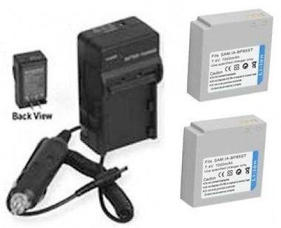 2つ2電池+充電器for Samsung hmx-h104、SAMSUNG hmx-h104bn、SAMSUNG hmx-h104bp、SAMSUNG hmx-h105bn   B01DNABSQI